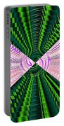 Deep Green And Pink Portable Battery Charger