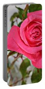 Deep Pink Rose - Summer - Rosebuds Portable Battery Charger