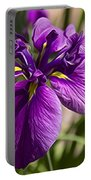 Deep Purpled Iris Portable Battery Charger