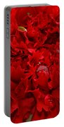 Deep Red Carnation Portable Battery Charger