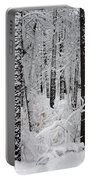 Deep Snow In The Forest Portable Battery Charger