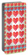 Deeply In Love Cherryhill Flower Petal Based Sweet Heart Pattern Colormania Graphics Portable Battery Charger