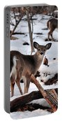 Deer And Snow Portable Battery Charger