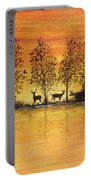 Deer At Sunset-2 Portable Battery Charger