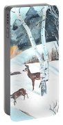 Deer Creek In Winter Portable Battery Charger