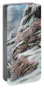 Deer In A Snowy Landscape Portable Battery Charger