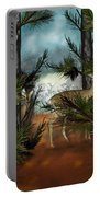 Deer In Pine Forest Portable Battery Charger