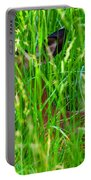 Deer In Tall Grass Portable Battery Charger