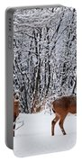 Deers In Winter Portable Battery Charger