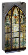 Defiant Stain Glass Church Window #1 Portable Battery Charger
