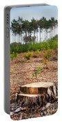 Woods Logging One Stump After Deforestation  Portable Battery Charger