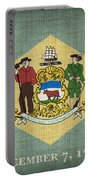 Delaware State Flag Portable Battery Charger by Pixel Chimp