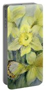 Delias Mysis Union Jack Butterfly On Daffodils Portable Battery Charger