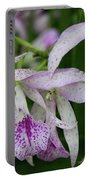 Delicate Orchid Blossoms Portable Battery Charger