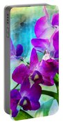 Delicate Orchids Portable Battery Charger