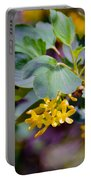 Delicate Yellow Flowers Portable Battery Charger