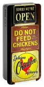 Delicious Chicken Dinners Sign Portable Battery Charger