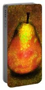 Delicious Pear Abstract Expressionism Portable Battery Charger