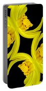Delightful Daffodil Abstract Portable Battery Charger
