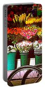 Delivery Bikes At Flower Market Portable Battery Charger