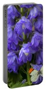 Delphinium And Butterfly Portable Battery Charger