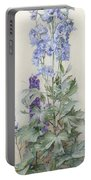 Delphiniums Portable Battery Charger by James Valentine Jelley