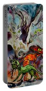 Demon Cats Haunted Portable Battery Charger