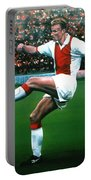 Dennis Bergkamp Ajax Portable Battery Charger by Paul Meijering
