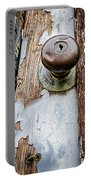 Dented Doorknob Portable Battery Charger by Caitlyn  Grasso
