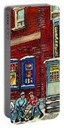 Depanneur Centre Pointe St Charles Montreal Verdun Paintings Hockey Art City Scenes Cspandau Portable Battery Charger