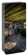 Derelict Cottage Portable Battery Charger by Adrian Evans