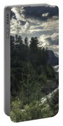 Desaturated Mountainscape Portable Battery Charger