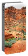 Desert Hiking Among The Sandstones Portable Battery Charger