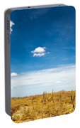 Desert Landscape With Deep Blue Sky Portable Battery Charger