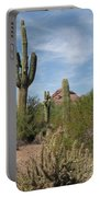 Desert Landscape With Saguaro Portable Battery Charger