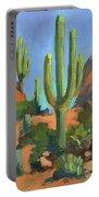 Desert Morning Saguaro Portable Battery Charger