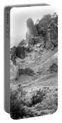 Desert Snowstorm Black And White Portable Battery Charger