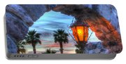 Desert Sunset View Portable Battery Charger