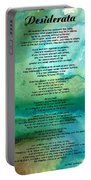 Desiderata 2 - Words Of Wisdom Portable Battery Charger