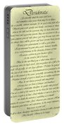 Desiderata Gold Bond Scrolled Portable Battery Charger by Movie Poster Prints