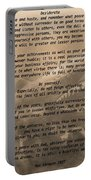 Desiderata Military Portable Battery Charger