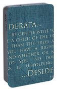 Desiderata On Canvas Portable Battery Charger
