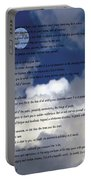Desiderata On Sky Scene With Full Moon And Clouds Portable Battery Charger