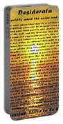 Desiderata Pismo Beach Golden Sunset Portable Battery Charger