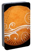 Designer Orange Baseball Square Portable Battery Charger