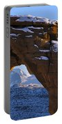 Detail Of Delicate Arch With Snow Arches National Park Utah Portable Battery Charger