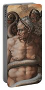 Detail Of The Last Judgment Portable Battery Charger by Michelangelo