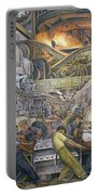 Detroit Industry  North Wall Portable Battery Charger by Diego Rivera