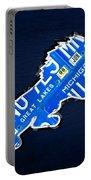 Detroit Lions Football Team Retro Logo License Plate Art Portable Battery Charger