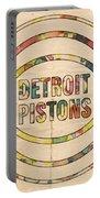 Detroit Pistons Vintage Logo Portable Battery Charger